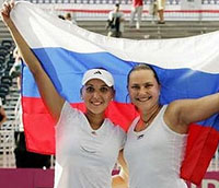 Dupla levou a Rússia  para final da Fed Cup