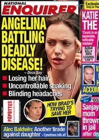 Angelina Jolie tem sintomas de  uma doença fatal