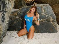 Luciane Hoerpes posa sensual com as cores da seleção brasileira. 29016.jpeg
