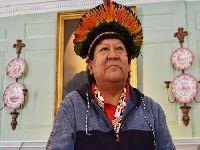 Futuro da Amazônia está em perigo, alerta o xamã Davi Kopenawa em Harvard. 31018.jpeg
