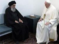 Papa Francisco em diálogo com o principal líder religioso do Iraque. 35030.jpeg