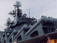 O cruzador de mísseis russo começa patrulhas em torno de Spitsbergen