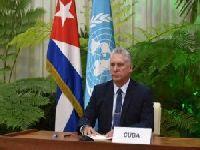 'Lutemos pela promoção da paz, da solidariedade e do desenvolvimento', afirma presidente de Cuba na ONU. 34042.jpeg