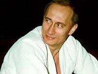 Fans do clube Putin Mania sobre o presidente russo, Vladimir Putin