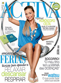 Luciana Abreu posa para revista de novo