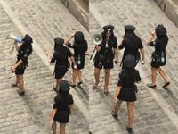 Policiais  mulheres  patrulham o Rio