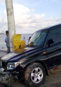 Luana Piovani  sofreu um acidente de carro