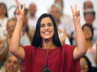 Verónika Mendoza, da Frente Ampla, é a candidata em ascensão na disputa presidencial peruana. 24102.jpeg