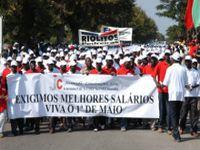Trabalhadores de Moçambique pedem paz, aumento salarial e melhores condições de trabalho. 22106.jpeg