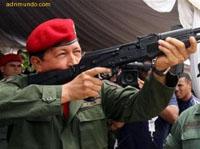 Chávez anunciou a colocação da pedra de fundamento de uma fábrica de fuzis Kalashnikov