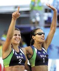 Jogos Pan-Americanos: As brasileiras Juliana e Larissa vencem final de vôlei de praia
