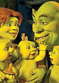 Shrek será  o pai no terceiro filme
