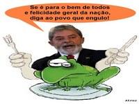 Lula, o espetacular engolidor de sapo!