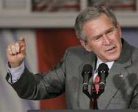 Deputados dos EUA desafiam Bush