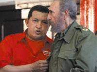 Fidel Castro e Hugo Chávez no programa