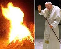 João Paulo II manifesta em frente dos fiéis depois da morte