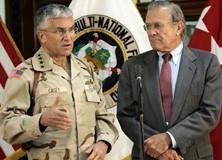 Os primeiros resultados da visita de Donald Rumsfeld e Condoleeza Rice no Iraque