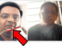 Mulher andava com um pedaço de escova de dentes no nariz