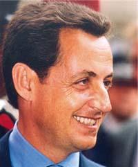 Sarkozy na cerimónia de posse mandato de cinco anos