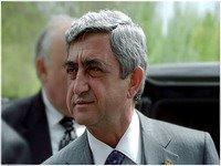 Presidente arménio na Rússia