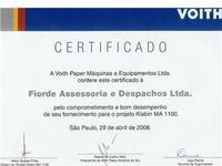Fiorde recebe prêmio da Voith Paper