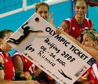 Voleibolistas russas ganharam a vaga para a Olimpíada de Pequim