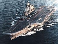 Grupo de choque da Armada Russa realiza  exercícios navais no Atlântico