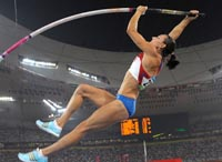 Yelena Isinbayeva bateu o recorde por estar apaixonada