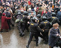 Manifestação contra  Putin