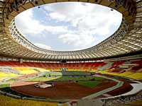 Estádio Luzhniki está pronto para receber a final da UEFA Champions League