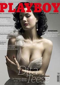 Rainha do striptease e modelo é capa da 'Playboy' da Alemanha