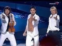 Dima Bilan  e Vânia Fernandes na final da Eurovisão 2008