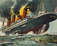 O afundamento do Lusitânia para pôr a perder mercadoria britânica e estadunidense
