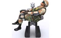 Robô carrega de tropas feridas