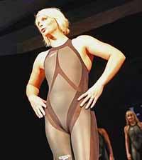 Apresentado traje de natação futurista (foto)