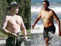 Torso desnudo de Obama. Internautas dizem que Putin é mais sexy