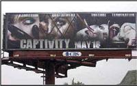 Cartazes do filme a mostrar torturas recolhidos nos EUA