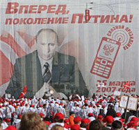 Jovens russos apoiam Putin
