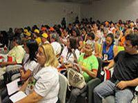 Trabalho decente foi tema central na plenária no FSMBIO 2015. 21642.jpeg