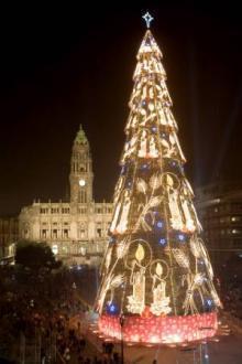 Maior árvore de Natal da Europa inaugurada em Porto