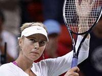 Sharapova, quinta colocada no ranking da WTA, na final em Doha