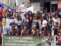 Povos indígenas realizam grande mobilização nacional contra municipalização da saúde. 30705.jpeg