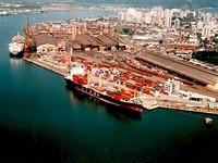 Porto de Santos: em obras