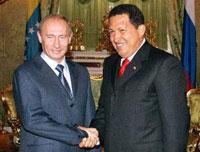 Chávez visita a Rússia nesta sexta-feira