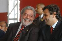 Lula elogia governador tucano em Belo Horizonte