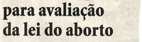 Portugal: Lei da Interrupção Voluntária da Gravidez em vigor