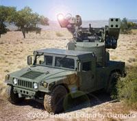 Boeing testou  o novo sistema anti-aérea Laser Avenger