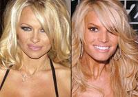 Pamela Anderson e Jessica Simpson entraram na batalha