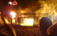 O Aerosmith fez seu único show no Brasil
