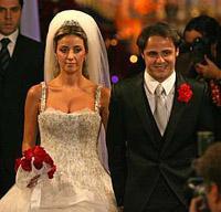 Felipe Massa agora é casado (foto)